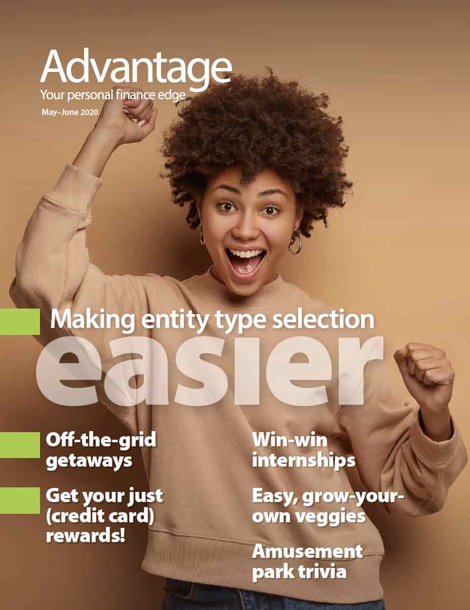 Advantage magazine cover