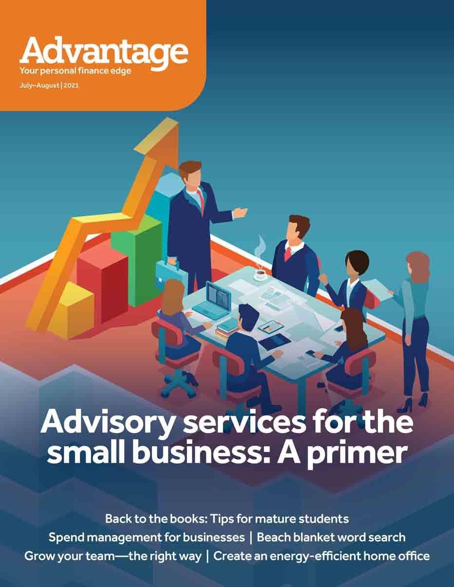 Advantage magazine cover